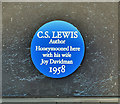 J4681 : CS Lewis plaque, Crawfordsburn (January 2018) by Albert Bridge