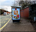 ST3089 : McDonald's advert on a Malpas Road bus shelter, Crindau, Newport by Jaggery