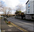 ST3089 : Metal barrier alongside a bend in Barrack Hill, Newport by Jaggery