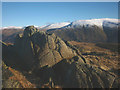 NY2914 : Summit rocks, Bell Crags by Karl and Ali