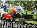 NY4053 : Miniature steam engine, Hammond's Pond, 2007 by Rose and Trev Clough