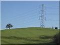 SP1164 : Electricity pylon and earthworks, Morton Bagot by Philip Halling