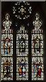 SK9153 : West window,  St Helen's church, Brant Broughton by Julian P Guffogg