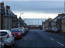 NJ2371 : A view down Queen Street, Lossiemouth by John Lucas