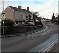 "SJ3156 : Warning sign 13' 3"" headroom bridge half a mile ahead, Hawarden Road, Caergwrle, Flintshire by Jaggery"