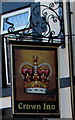 SJ3057 : Crown Inn name sign, High Street, Caergwrle, Flintshire by Jaggery