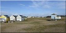 SZ1891 : One isolated beach hut, Hengistbury Head by David Smith