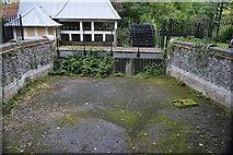 TQ2764 : Mill race above waterwheel, Upper Mill by N Chadwick