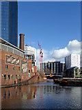 SP0686 : Gas Street Basin in Birmingham by Roger  Kidd