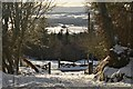 NC8301 : Snowy Track at Backies, Golspie by Andrew Tryon