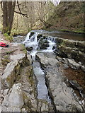 SN9210 : Flow channel at Sgŵd y Pannwr by Rudi Winter