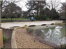 TQ1979 : Gunnersbury Park Horseshoe Pond bridge by David Hawgood