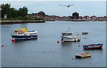 NZ4057 : Boats moored on the River Wear, Sunderland by Mat Fascione