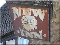 SO3958 : New Inn sign, Pembridge by Philip Halling