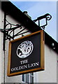 ST4287 : Golden Lion name sign, Magor by Jaggery