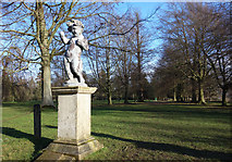 TQ1352 : Air Guitar Cherub, Polesden Lacey by Des Blenkinsopp