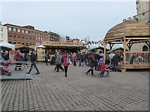 SX9292 : Christmas Market, Cathedral Green, Exeter by Chris Allen