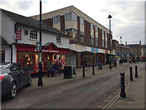 TM0458 : Shops on the west side of Ipswich Street, Stowmarket by Robin Stott