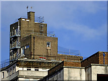 SP0686 : The top of Grosvenor House in Birmingham by Roger  Kidd