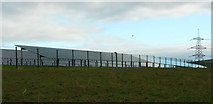SX0172 : Solar farm by Treworder Lane by Derek Harper