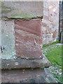 SP2092 : OS benchmark - Lea Marston, St John's church by Richard Law