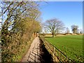 SU1069 : Footpath from the car park to the village by Steve Daniels
