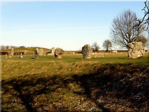 SU1070 : Part of the stone circle at Avebury by Steve Daniels