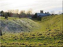 SU1070 : Ditch and bank at Avebury by Steve Daniels