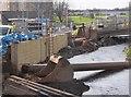 NT2870 : Flood protection work, Little France Edinburgh by Jim Barton