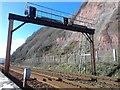 SX9573 : Railway signal gantry:  DM208 & E276 by John C