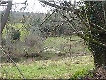 SX7383 : Modern footbridge over stream, Yarde by David Smith