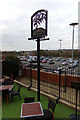 TM0558 : The Willow Tree Public House sign by Adrian Cable