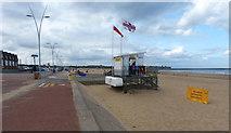 NZ3766 : Lifeguard station on South Shields beach by Mat Fascione