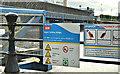 J3474 : Water safety sign, Lagan Walkway, Belfast (February 2018) by Albert Bridge