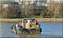 "J3473 : The ""Cuan Spirit"", River Lagan, Belfast (February 2018) by Albert Bridge"