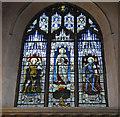 TG2308 : War Memorial window in St. Andrew's church, Norwich by Adrian S Pye