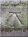 O1434 : Bench mark and bolt on Mellows Bridge, Dublin by John S Turner