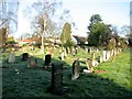 TG2708 : View across the eastern section of Thorpe cemetery by Evelyn Simak