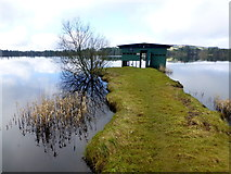 H5776 : Boat house, Loughmacrory Lough by Kenneth  Allen