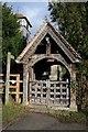 SO9458 : Lychgate at Himbleton church by Philip Halling