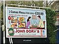 """J3873 : """"John Dory's"""" poster, Belfast (February 2018) by Albert Bridge"""