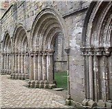 SE2768 : Romanesque arches at Fountains Abbey by Ceri Thomas