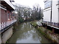 TQ5846 : River Medway at Tonbridge by PAUL FARMER