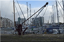 SX4854 : An old hoist, Sutton Harbour by N Chadwick
