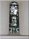 TQ2160 : St Martin of Tours Epsom: stained glass window (f) by Basher Eyre