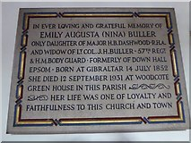 TQ2160 : St Martin of Tours Epsom: memorial (14) by Basher Eyre
