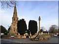 SD3610 : War Memorial and the Church of St Cuthbert, Halsall by David Dixon