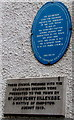 ST5393 : Two plaques on the wall of Chepstow Town Council Offices by Jaggery