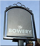 TA0829 : Sign for the Bowery public house, Hull by JThomas