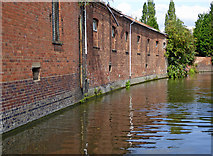 SO8276 : Canalside warehouses in Kidderminster, Worcestershire by Roger  Kidd